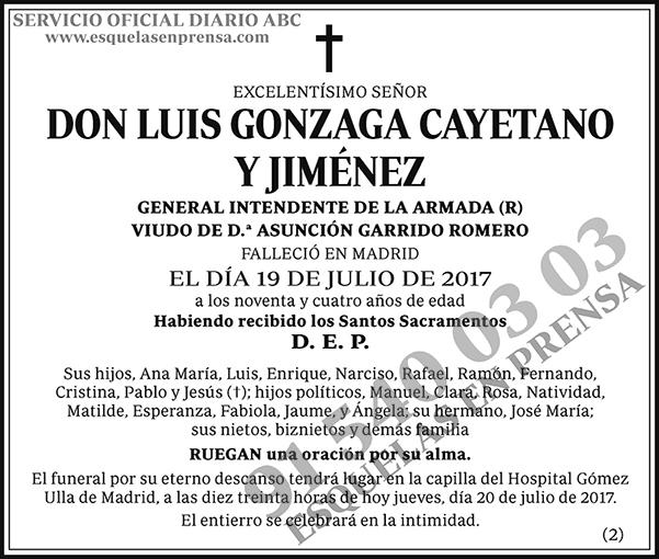 Luis Gonzaga Cayetano y Jiménez